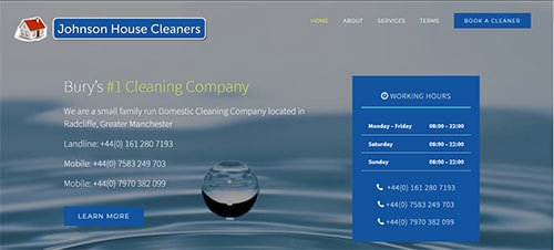 domestic cleaning services in Bury